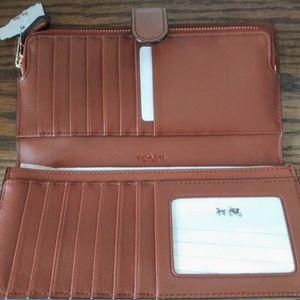 Coach British tan wallet